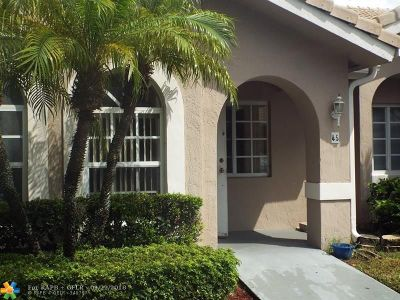 Broward County Condo/Townhouse For Sale: 3185 Holiday Springs Blvd #45