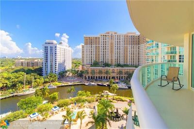 Fort Lauderdale Condo/Townhouse For Sale: 347 N New River Dr E #1210