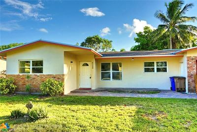 Pompano Beach Single Family Home For Sale: 4130 NE 2nd Ave