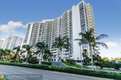 Fort Lauderdale Condo/Townhouse For Sale: 2841 N Ocean Blvd #405