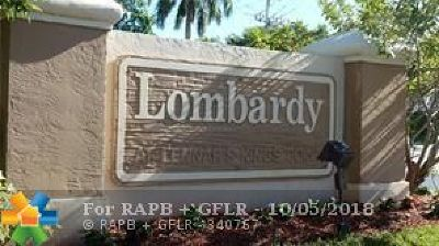 Broward County Condo/Townhouse For Sale: 10147 Lombardy Drive #10147
