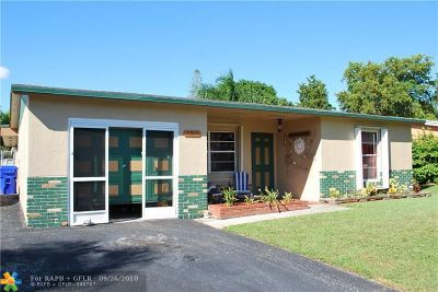 North Lauderdale Single Family Home For Sale: 7305 SW 7th St