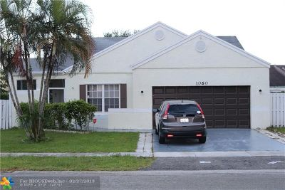 Pembroke Pines Single Family Home For Sale: 1060 SW 85th Ter