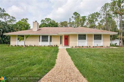 Jupiter Single Family Home For Sale: 11861 161st St