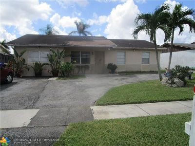 North Lauderdale Single Family Home Backup Contract-Call LA: 7694 SW 7th St