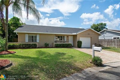 Coral Springs Single Family Home Backup Contract-Call LA: 2324 NW 98th Ter