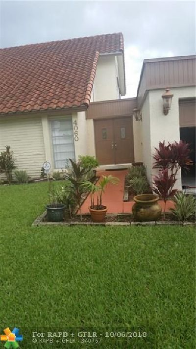 Sunrise Single Family Home For Sale: 4060 NW 93rd Ave