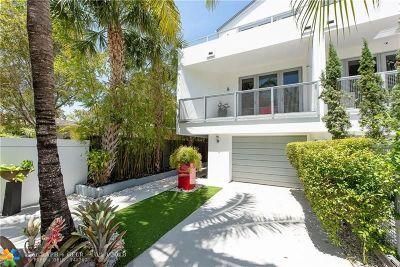 Fort Lauderdale Condo/Townhouse For Sale: 1509 NE 4th Pl #1509