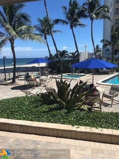 Fort Lauderdale Condo/Townhouse For Sale: 3800 Galt Ocean Dr #107