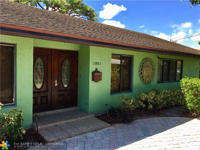 Oakland Park Single Family Home For Sale: 3801 NE 15th Ave