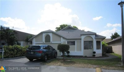 North Lauderdale Single Family Home For Sale: 311 Bishop Rd