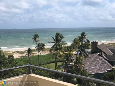 Lauderdale By The Sea Condo/Townhouse For Sale: 2000 S Ocean Blvd #6L
