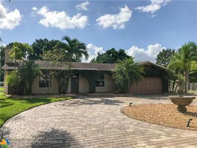 Southwest Ranches Single Family Home For Sale: 18510 SW 58 St