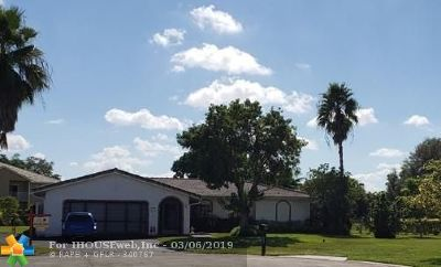 Coral Springs Single Family Home For Sale: 10920 NW 24 St