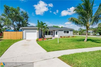 Margate Single Family Home For Sale: 5100 SW 8th St