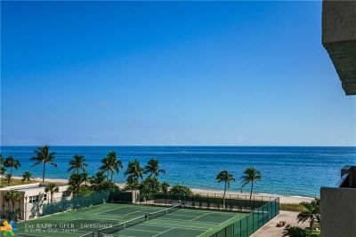 Lauderdale By The Sea Condo/Townhouse For Sale: 5100 N Ocean Blvd #702