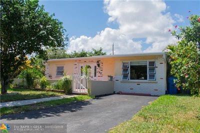 Oakland Park Single Family Home For Sale: 6101 NE 4th Ave