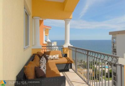 Fort Lauderdale Condo/Townhouse For Sale: 2001 N Ocean Blvd #1602s
