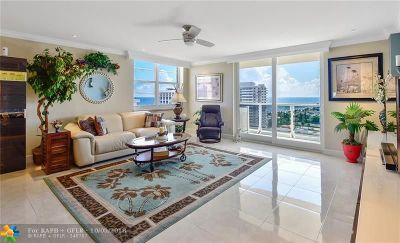 Fort Lauderdale Condo/Townhouse For Sale: 336 N Birch Rd #15I