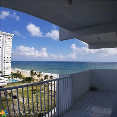 Pompano Beach Condo/Townhouse For Sale: 1360 S Ocean Blvd #1005
