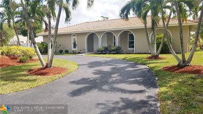 Coral Springs Single Family Home For Sale: 10550 NW 29th Ct