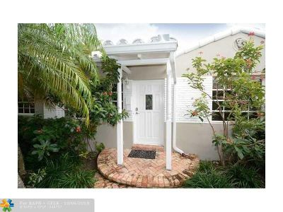 Fort Lauderdale Single Family Home For Sale: 1629 NE 6th Street