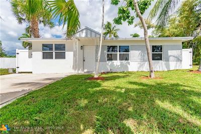 Oakland Park Single Family Home For Sale: 141 NW 45th St