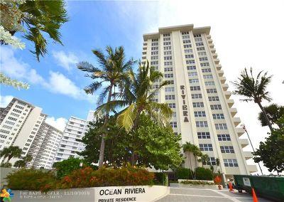 Fort Lauderdale Condo/Townhouse For Sale: 3550 Galt Ocean Dr #1807