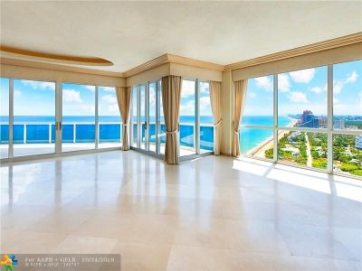 Fort Lauderdale Condo/Townhouse For Sale: 3200 N Ocean Blvd #2810