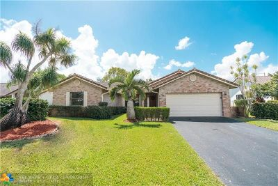 Coral Springs Single Family Home For Sale: 11436 NW 1st Pl