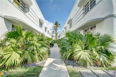 Miami Beach Condo/Townhouse For Sale: 1525 Pennsylvania Ave #6