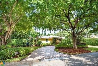 Sunrise Intracoastal Single Family Home For Sale: 800 Middle River Dr
