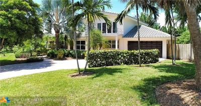 Pompano Beach Single Family Home For Sale: 2003 Bay Dr