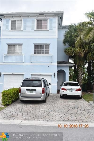 Lauderhill Condo/Townhouse For Sale: 3445 NW 14th Ct #3445