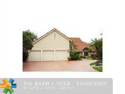 Tamarac Single Family Home For Sale: 8655 Banyan Way