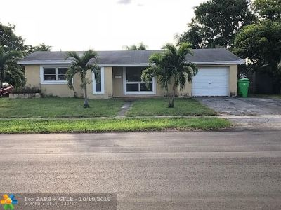 Sunrise Single Family Home For Sale: 1311 NW 63rd Ave