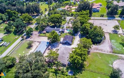 Davie Single Family Home For Sale: 13901 SW 26th St