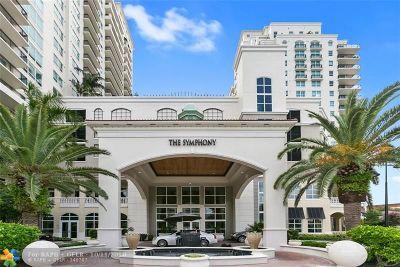 Fort Lauderdale Condo/Townhouse For Sale: 610 W Las Olas Blvd #516N