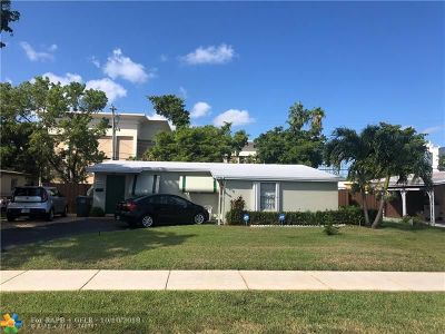 Oakland Park Single Family Home For Sale: 731 NE 61st St
