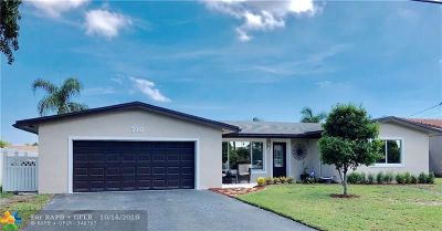 Pompano Beach Single Family Home For Sale: 710 SE 6th Ter