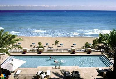 Fort Lauderdale Condo/Townhouse For Sale: 601 N Fort Lauderdale Beach Blvd #611