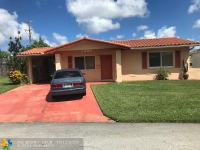 Tamarac Single Family Home For Sale: 5408 NW 23rd Ave