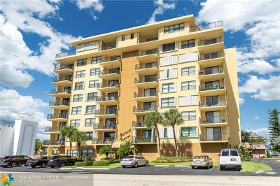 Pompano Beach Condo/Townhouse For Sale: 801 N Ocean Blvd #404