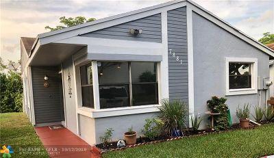 Sunrise Single Family Home Backup Contract-Call LA: 7881 NW 41st Ct
