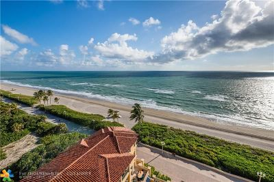 Broward County Condo/Townhouse For Sale: 3501 N Ocean Dr #PH5