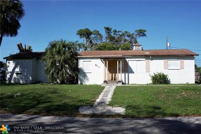 West Palm Beach Single Family Home For Sale: 917 42nd St