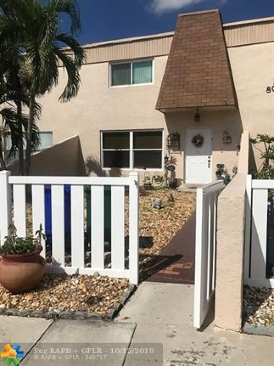 Margate Condo/Townhouse For Sale: 8091 NW 13th St #E