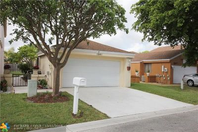 Coconut Creek Single Family Home For Sale: 1941 NW 35th Ave