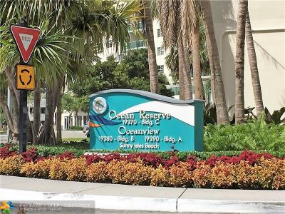 Sunny Isles Beach Condo/Townhouse For Sale: 19380 Collins Ave #315