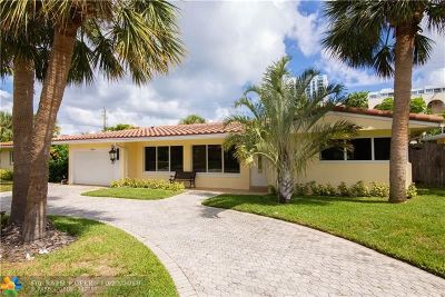 Lauderdale By The Sea Single Family Home For Sale: 1624 Bel Air Ave
